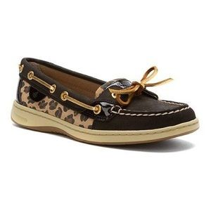 Sperry Cheetah Black Loafers